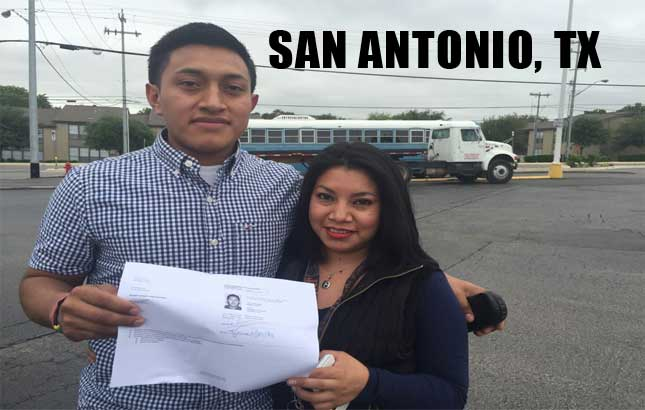 CDL training Houston image include student TX HOUSTON TX PHONE NUMBER 210-946-9841