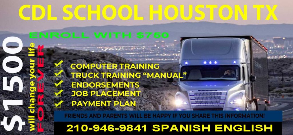 cdl training texas Houston, TX all information in image services and phone snumber 210-946-9841