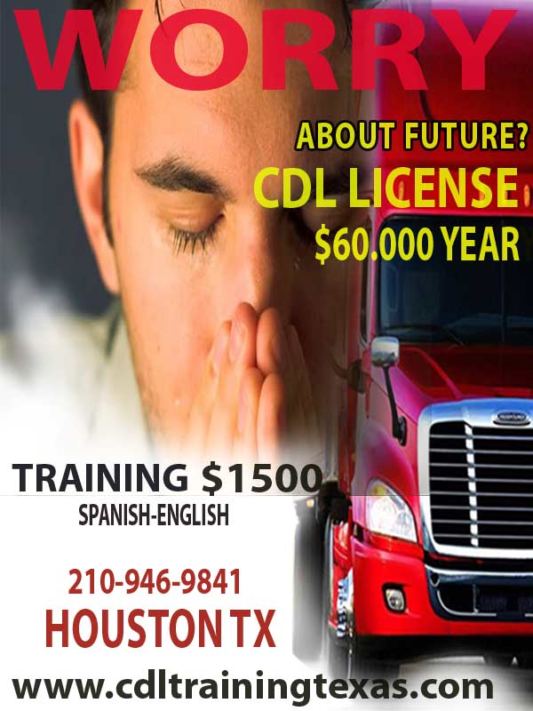 truck driving school houston texas services and phone number in the image